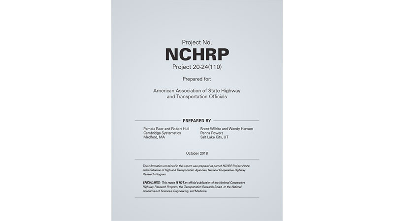 cover of NCHRP guidebook on organizational safety culture for State Departments of Transportation and Highway Safety Offices