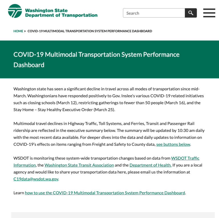 Image for Covid-19 Transportation Report