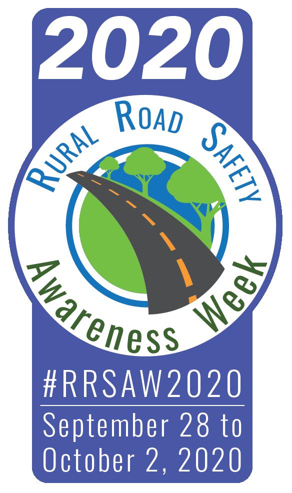 rural road safety awareness week banner for 2020