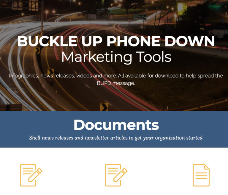 Buckle Up Phone Down Marketing Tools Thumbnail