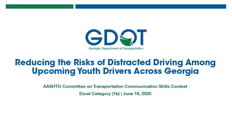 GDOT - Reducing the Risks of distracted driving among upcoming youth drivers across Georgia pdf cover